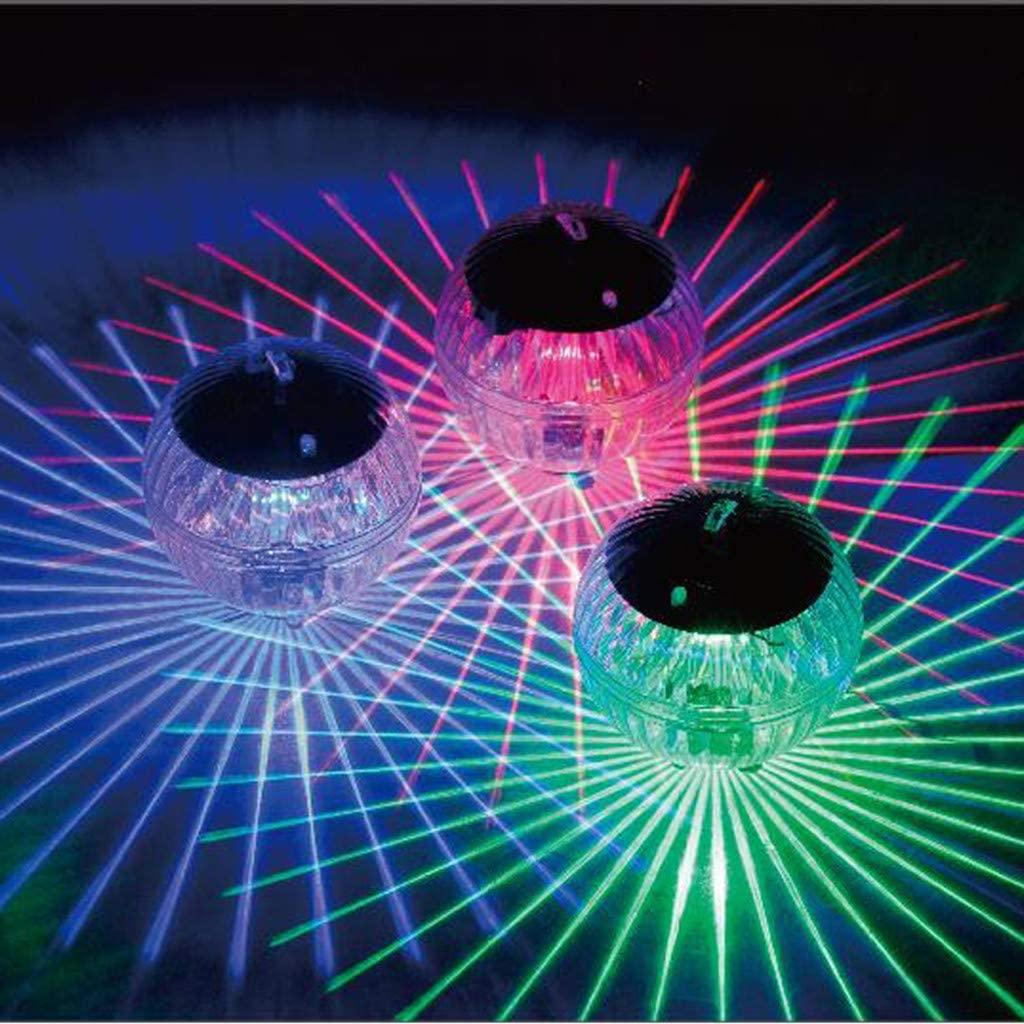 Aconka Solar Pond Light, Solar Floating Pond LED Light Waterproof Night Lamp Waterproof Patio Decorative for Swimming Pool Beach Wedding Party