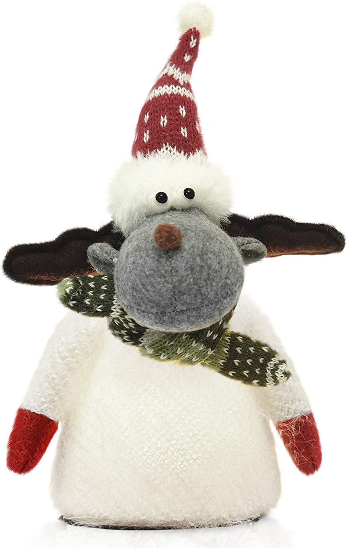Snowflakes Christmas Grey Elk Stuffed Moose,LED Kitchen Lights, Decoration,Luminous LED Doll,Christmas Decoration,Decoration on Christmas Tree,Study Room,Windows,Bedroom,Living Room
