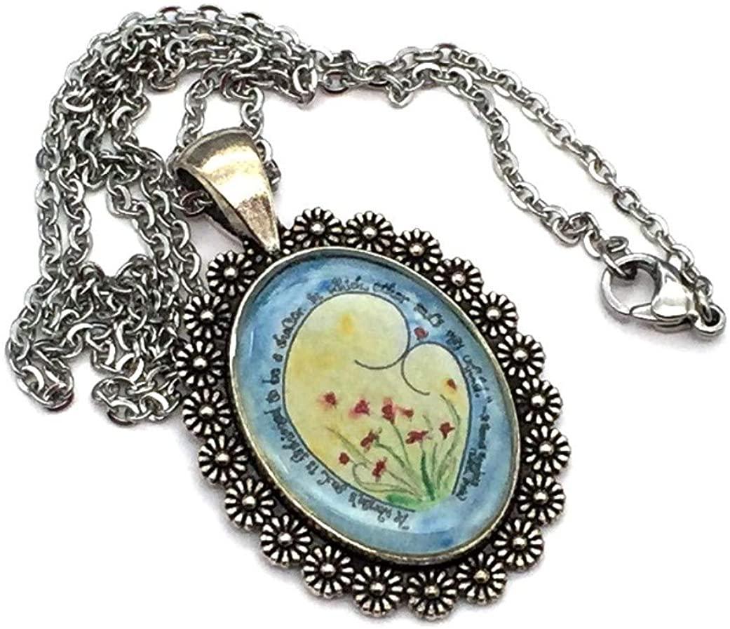 BC Inspirations Edith Stein Pendant, Catholic Handmade Pendant Featuring Catholic Art by Dovetail Ink