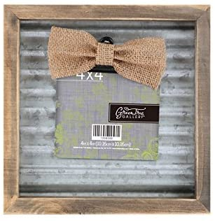 Green Tree Gallery Wood and Metal Photo Clip Frame, Holds a 4 x 4 inch Photo