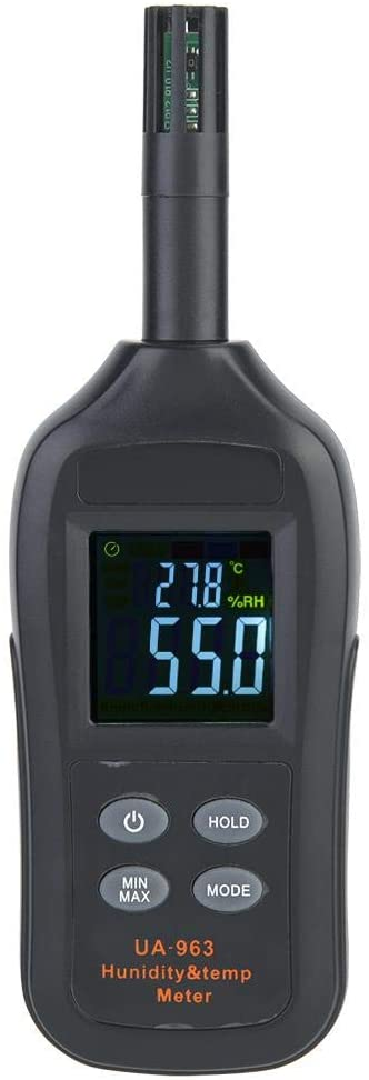 Wal front Digital Thermo-Hygrometer Mini Thermometer Hygrometer Temperature and Humidity Meter Color LCD Backlight Weather Station