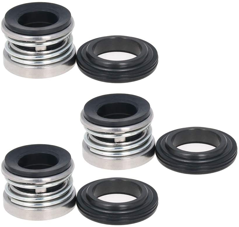 Othmro Mechanical Shaft Seal Replacement 104-18 for Pump Shaft Water Pumps Shaft Mechanical Sealing Alloy Plastic 3pcs