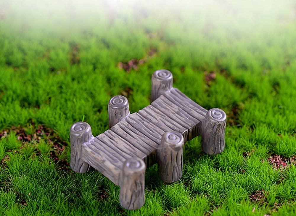 Printasaurus Decoration Resin Miniature Vintage Wooden Bridge DIY Craft Accessory Home Garden Decoration Home & Garden Home Decor
