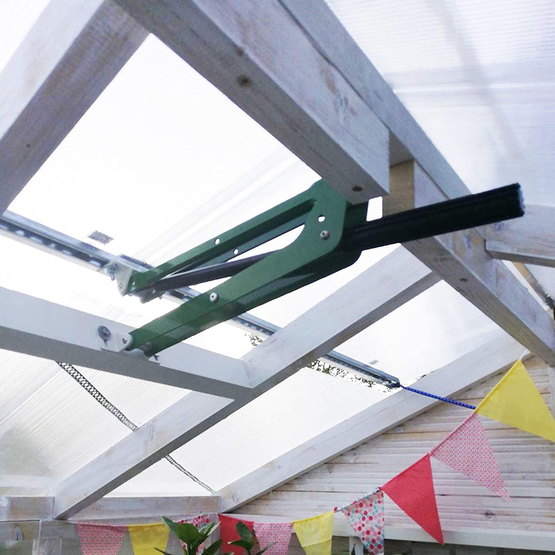BIBISTORE 132 Lbs Capacity Heavy Duty Automatic Vent Opener Solar Power Auto Greenhouse Window Opener Hot-House Roof Ventilation Kit Garden Tools Perfect for Heavy Windows