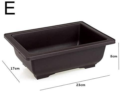 MSKJ Plastic Flower Pot Retro Style Simulational Purple Sand Pots Flower Bonsai Tree Plant Succulent Flower Pots Home Garden