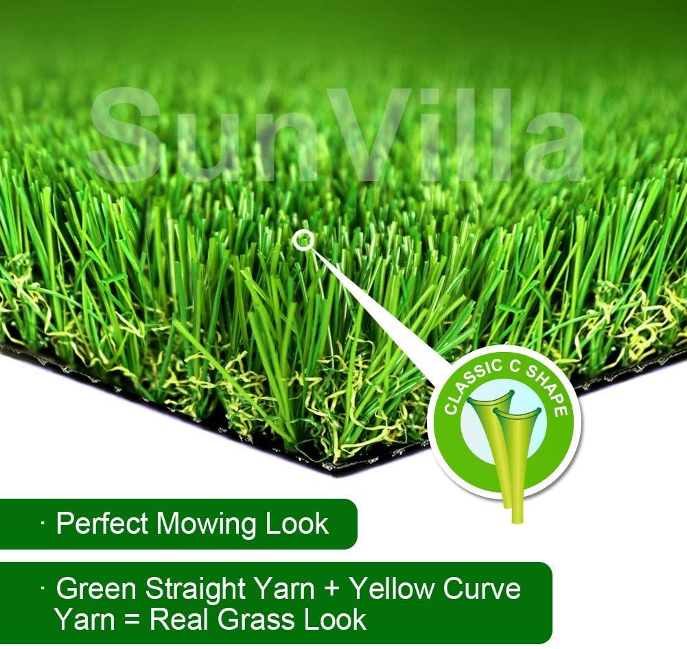 SunVilla Realistic Indoor/Outdoor Artificial Grass/Turf Sample Piece - 2 in X 3 in