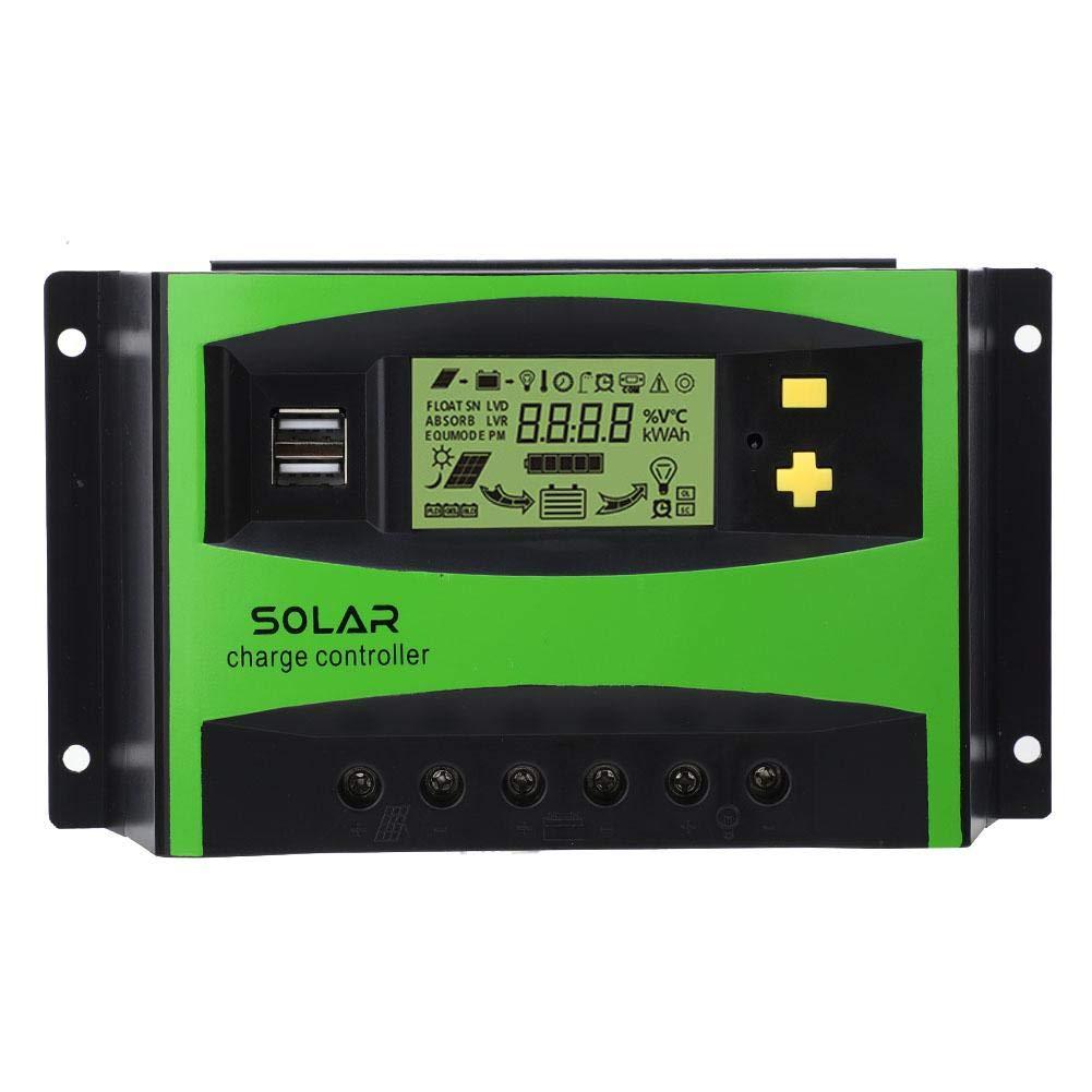 Solar Charge Regulator, 40A 12V/24V IP32 Solar Charge Regulator PWM Charging Controller 28-10AWG