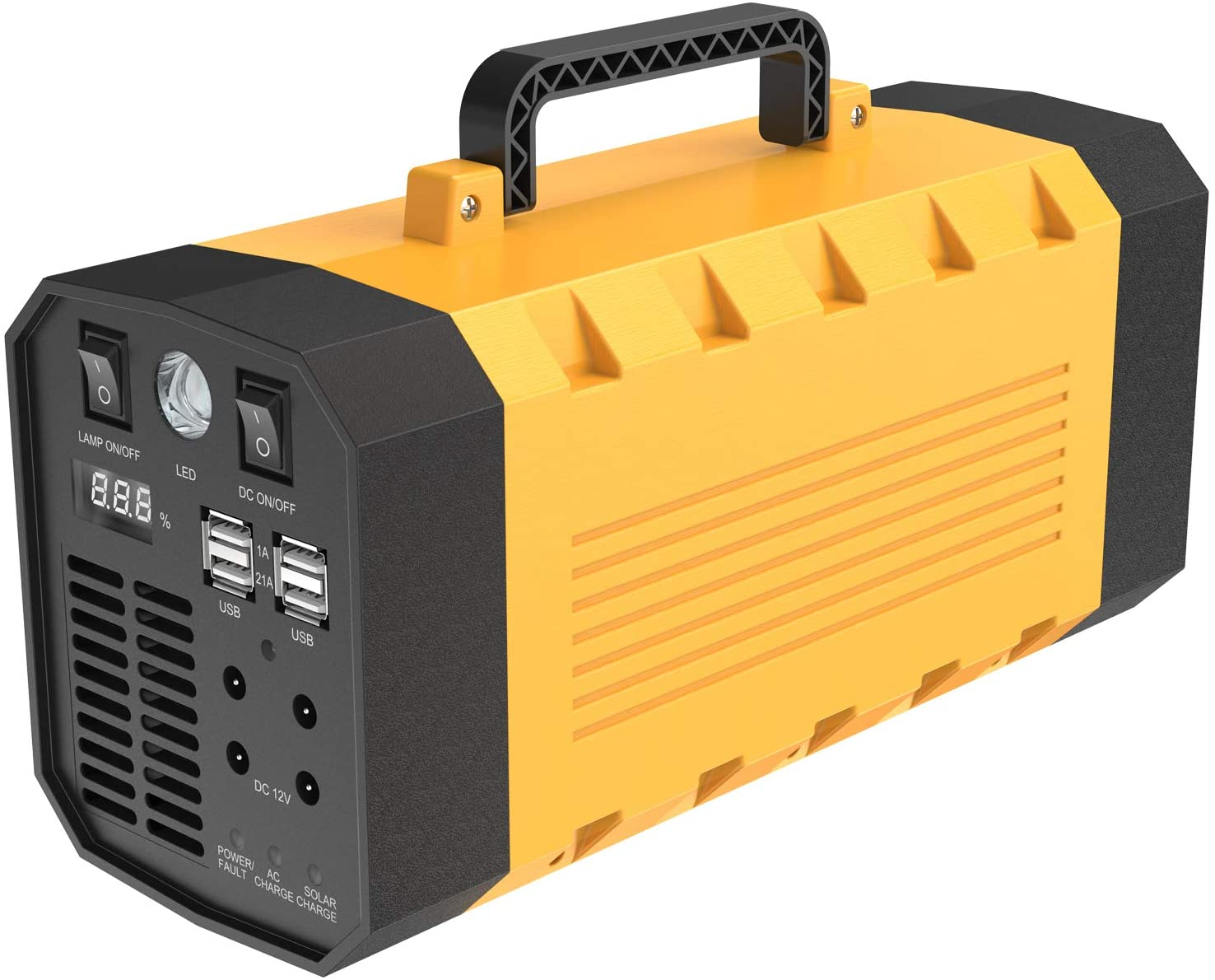 Subroad Portable Solar Generator 500W 288W Rechargeable Lithium Battery Pack Backup Power AC Out 12V USB Output Multifunctional Emergency Power for CPAP Backup Camping Emergency