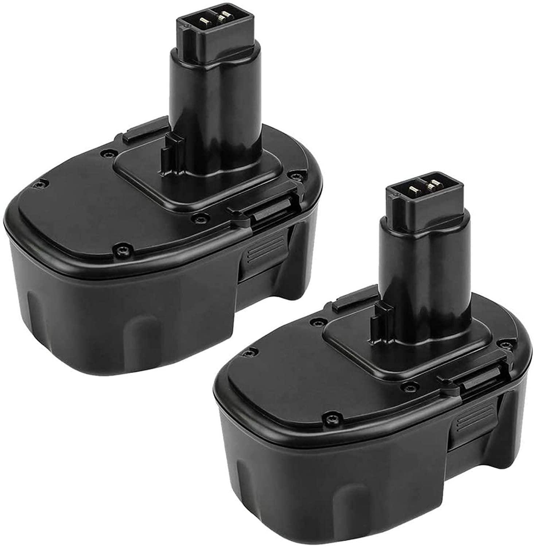 3.6Ah 2 Packs DC9091 Replacement for Dewalt 14.4V Battery DW9091 DW9094 DE9038 DE9091 DE9092 DE9094 DE9502 for 14.4 Volt DC DW XRP Series Battery