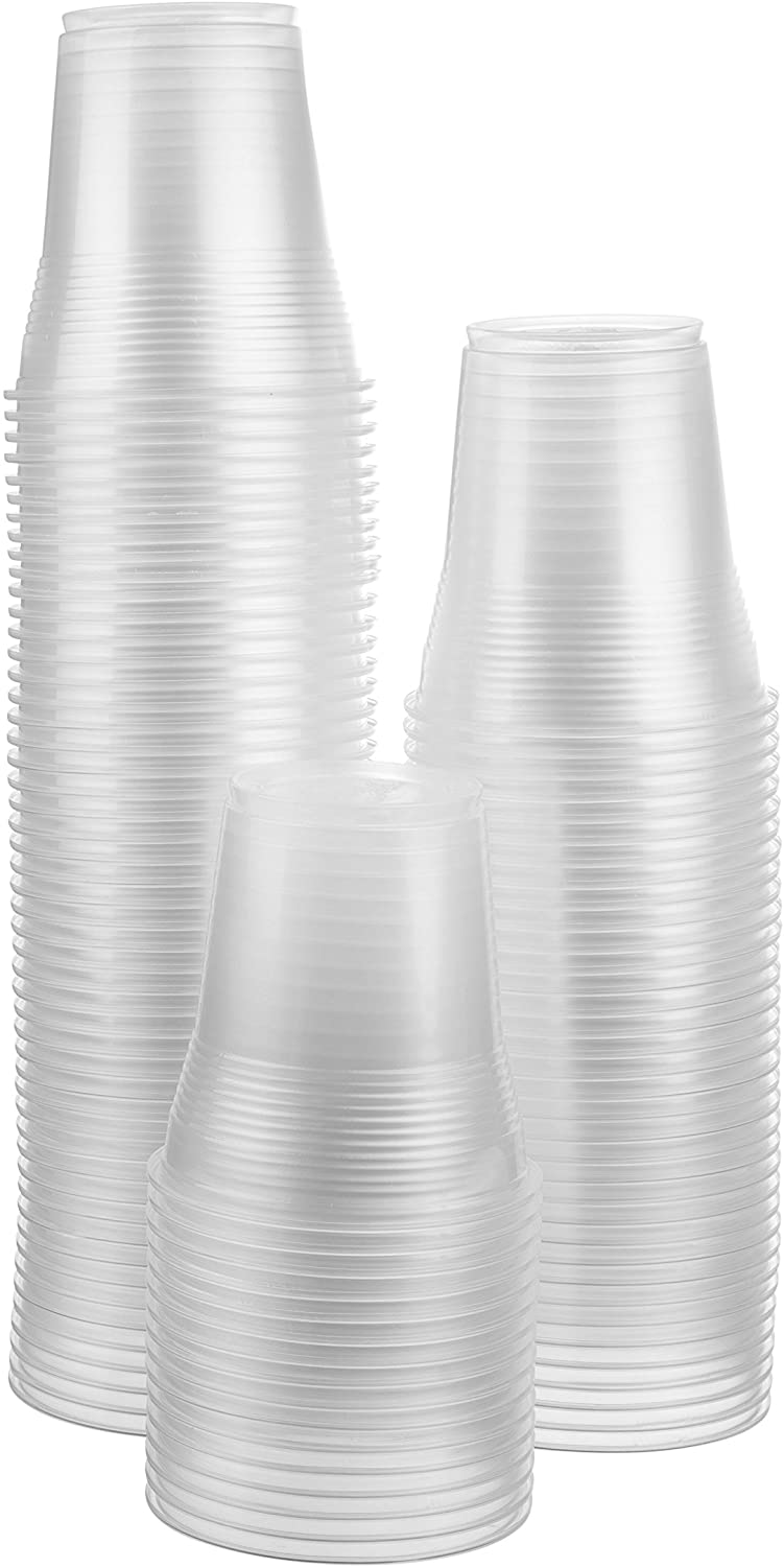 5 Oz. Clear Disposable Plastic Cups - Flexible and Crack Resistant - 300 count Bargain Pack
