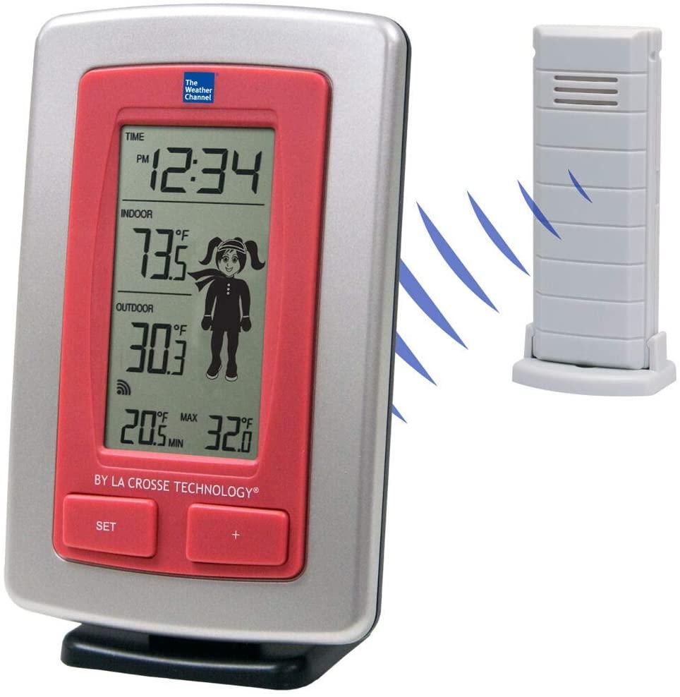 BananaBus WS-9782 TWC Wireless Weather Station Girl TX40U-IT - Silver
