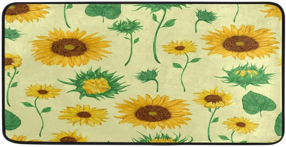 Bolaz Doormat Area Rug Mat Sunflowers for Bedroom Front Door Kitchen Indoors Home Decors