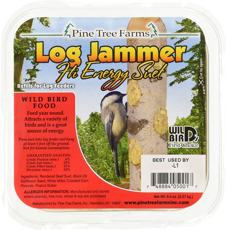 Pine Tree Farms 12 Pack of Log Jammers Hi Energy Suet 3 Refills (36 Plugs Total)