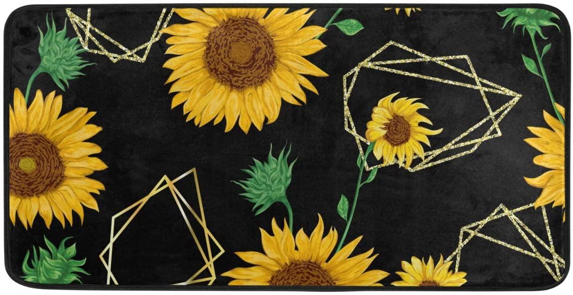 CiCily Doormat Area Rug Sunflower for Bedroom Front Door Kitchen Indoors Home Decors