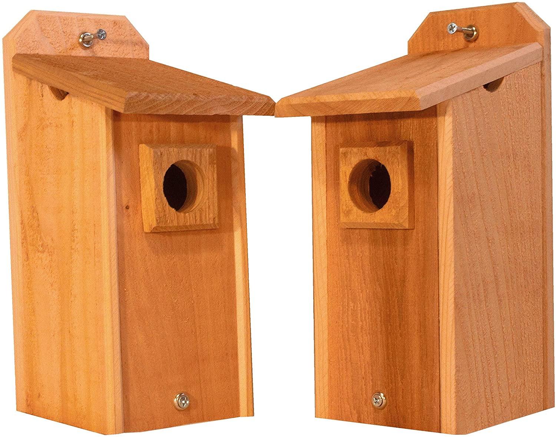 2 Cedar Bluebird Houses, Bird House