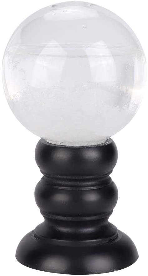 Stronerliou Innovative Crystal Weather Forecast Glass Bottle Weather Predicting Home Decoration White