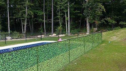 iDeal Fabrics Printed Decorative Fence Screen | 6' x 50' Vinyl Windscreen for Pool Cover, Garden Patio, Balcony, Backyard, Apartment Railing and Outdoor Shower | Waterproof UV Resistant Hedge Fence