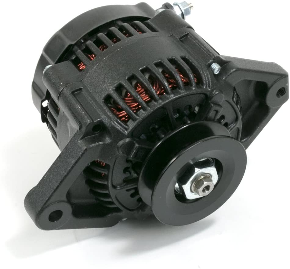 A-Team Performance Mini Race Alternator Denso Style High Amperage 90 Amp Black Finish