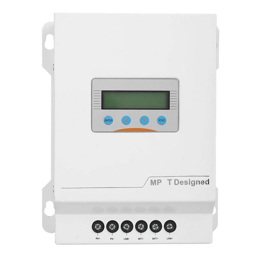 MPPT Solar Charge Controller,40A Solar Panel Charge Controller 12V/24V/48V LCD DisplayMPPT Solar Regulator Monitor with System Abnormal Alarm Function