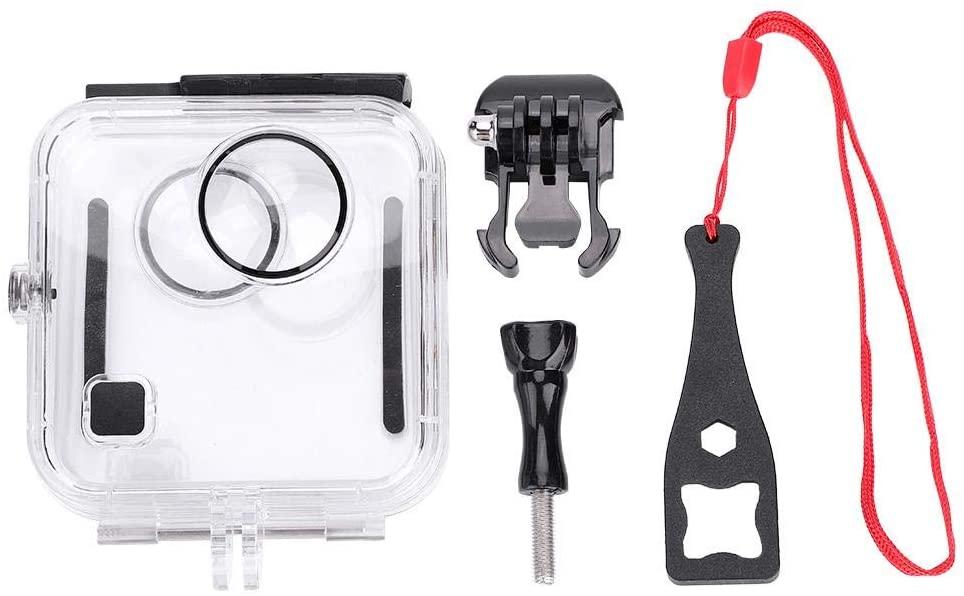 EBTOOLS Waterproof Protective Cover for Go Pro, High-Light Transmissive Anti-Fog Film Aluminum Case + Spanner + Base + Screw