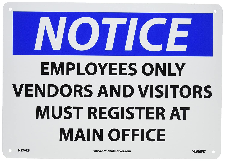 NMC N270RB OSHA Sign, Legend