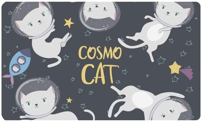 InterestPrint Funny Cartoon Cats s Astronaut in Space Doormat Anti-Slip Entrance Mat Floor Rug Indoor/Outdoor/Front Door Mats Home Decor, Rubber Backing Large 30