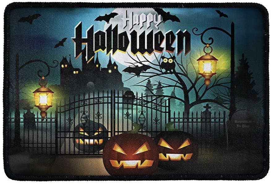 chaqlin Happy Halloween Door Mat Durable Rubber Doormats, Welcome Mats, Indoor Outdoor, Non-Slip, Easy Clean, Absorb Water, Low-Profile Mats for Entry, Patio, Garage, Entrance Way