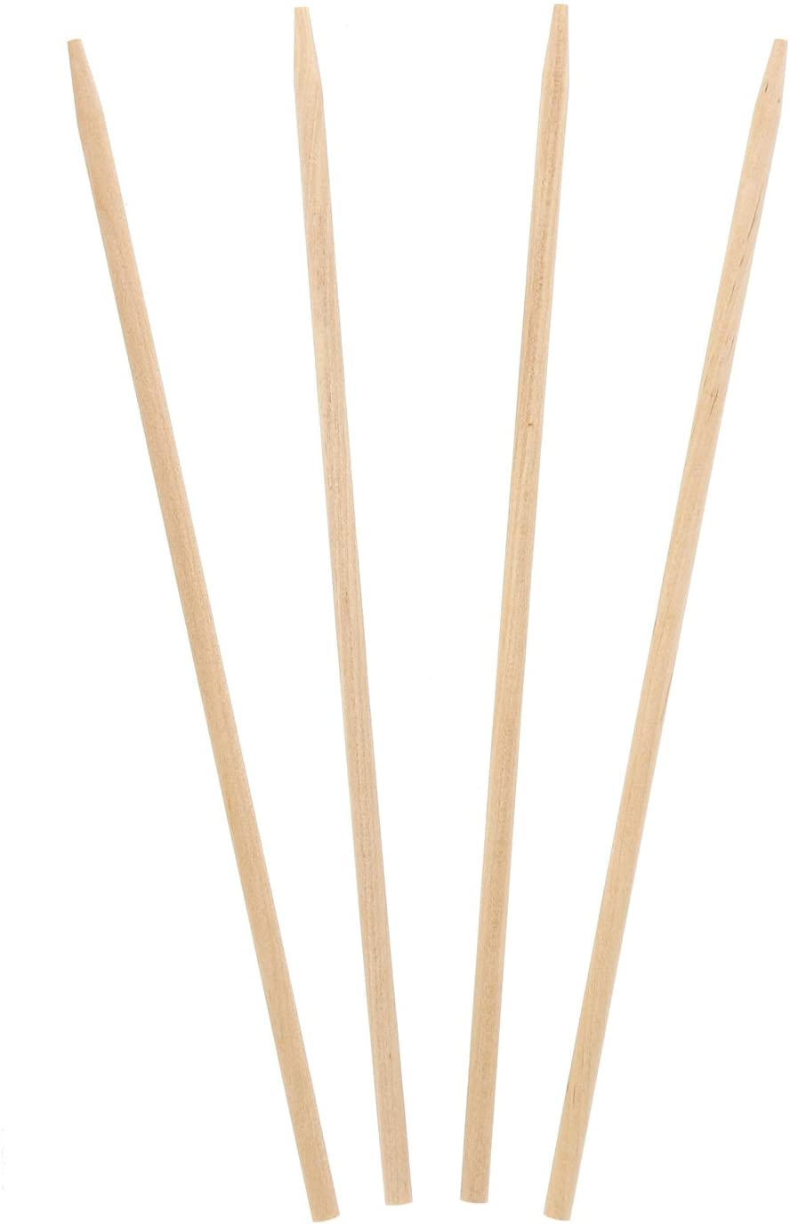 Royal 8.5 Inch x 3/16 Inch Thick Wood Skewers for Grilling Meat, Satays, and Skewered Vegetables, Box 1000