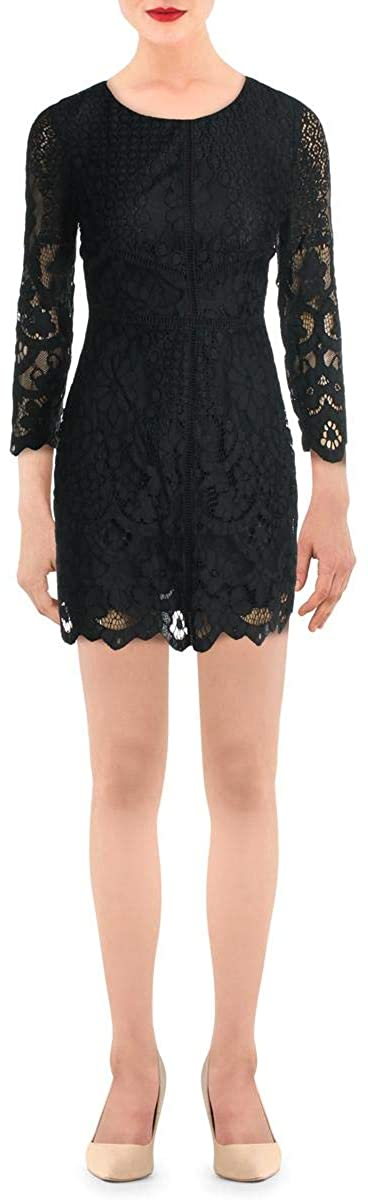 cupcakes and cashmere Womens Lace Cocktail Sheath Dress