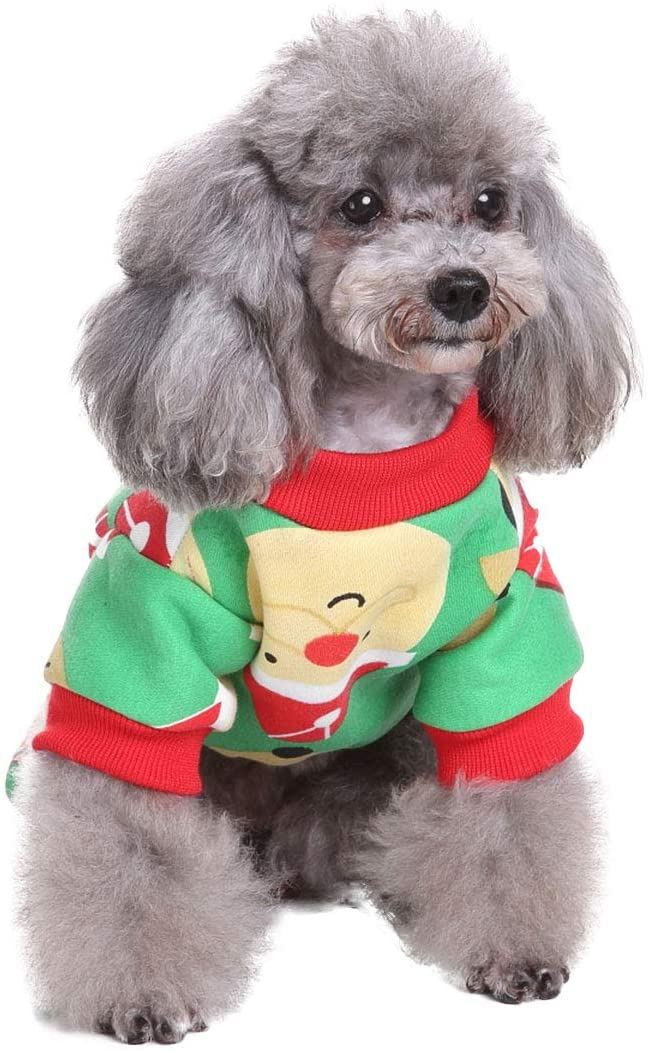 Freebily Pet Dog Halloween Christmas Costumes Clothes with/Without Hat Winter Dog Coat Pet Clothing Christmas Dress Up Apparel