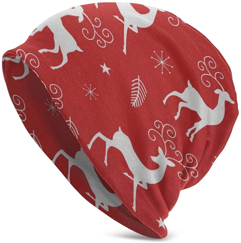 N\ A Skull Cap Cute Christmas Snowmen Beanie Hat Caps Winter Knit Cancer Hats for Women Men