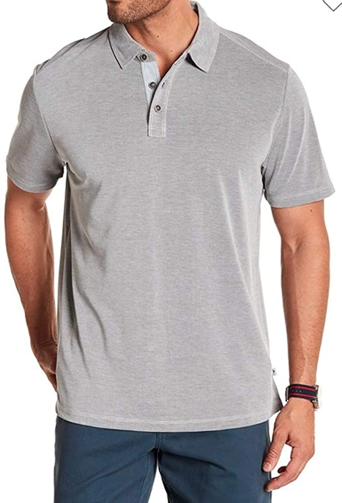 Tommy Bahama Shoreline Surf Polo Shirt Short Sleeve Three Button Soft Golf Shirts