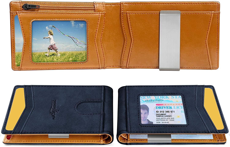 Slim Wallet Money Clip,Bigant Front Pocket Wallet Card Holder for Men 3
