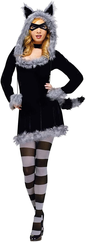 Fun World Racy Raccoon Adult Costume