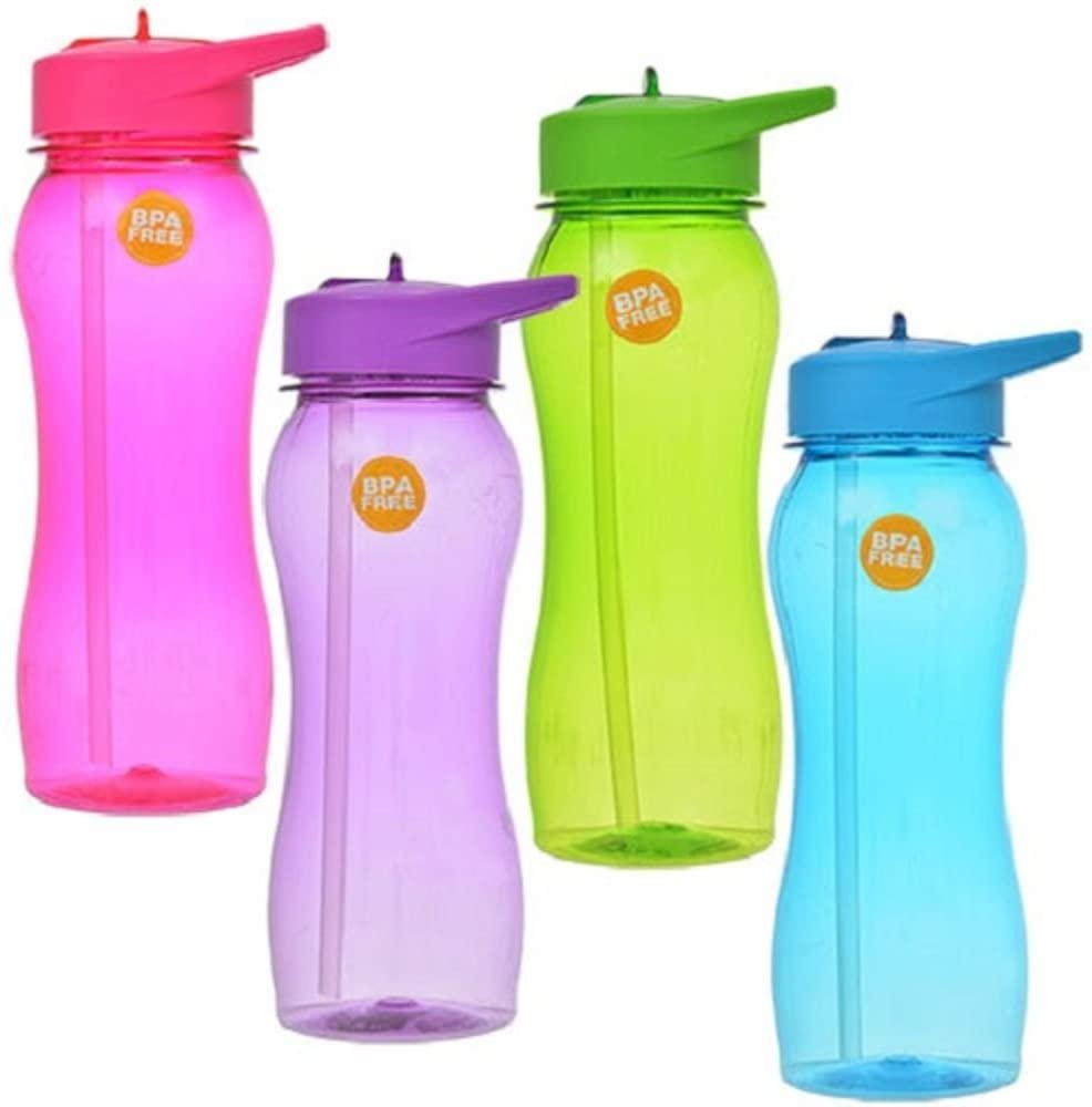 BPA Free Water Bottle with Straw (Purple)