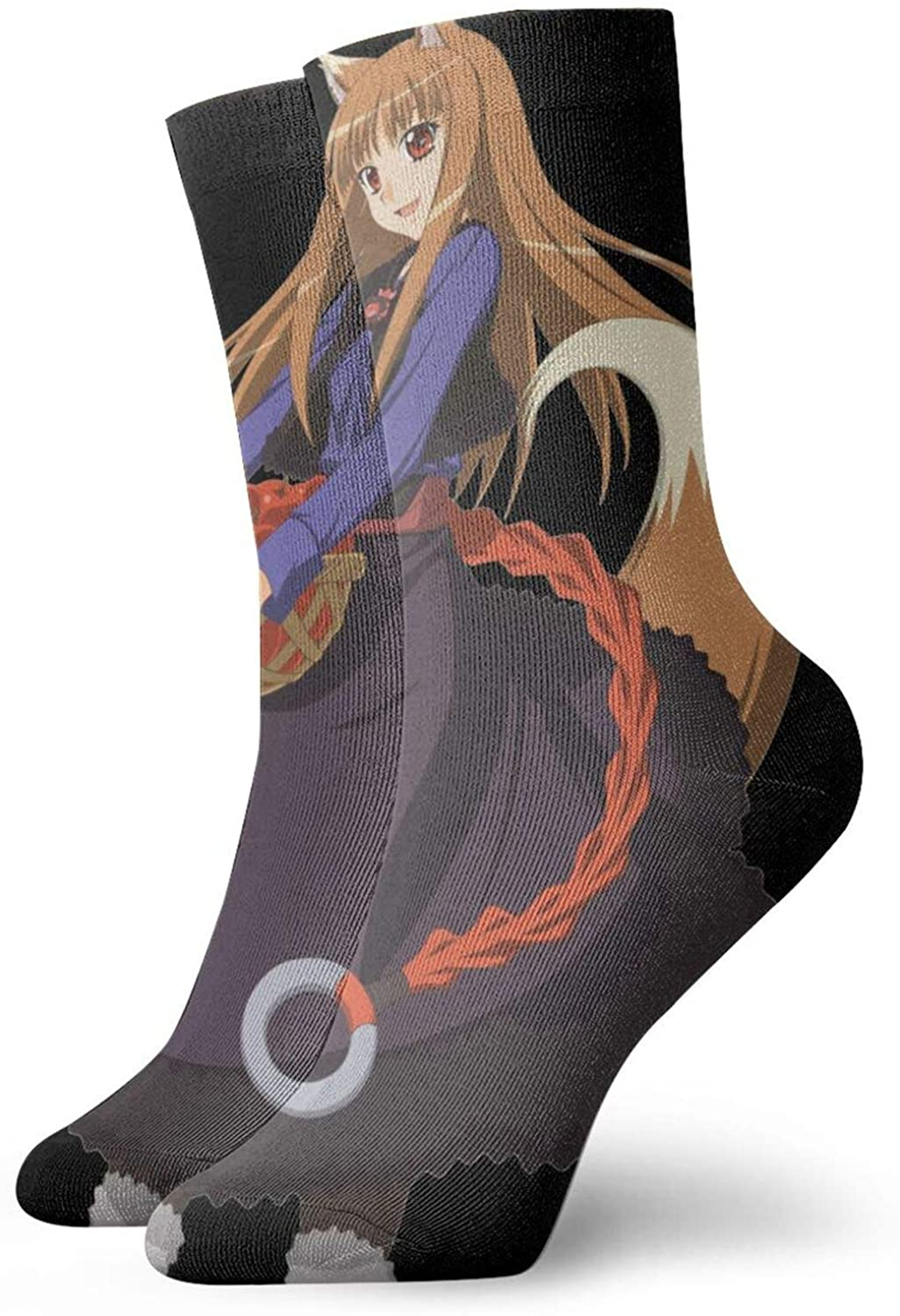 Spice And Wolf Wear-Resistant, Comfortable And Breathable Socks, Suitable For Men And Women