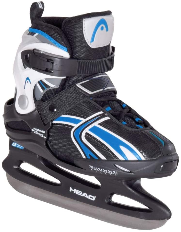 Head Boys Adj. Raptor Boy-Jr Junior Ice Skates 2018/19 Size 31 Adjustable Comfortable Inner Shoe Sturdy Chassis Black Size 36