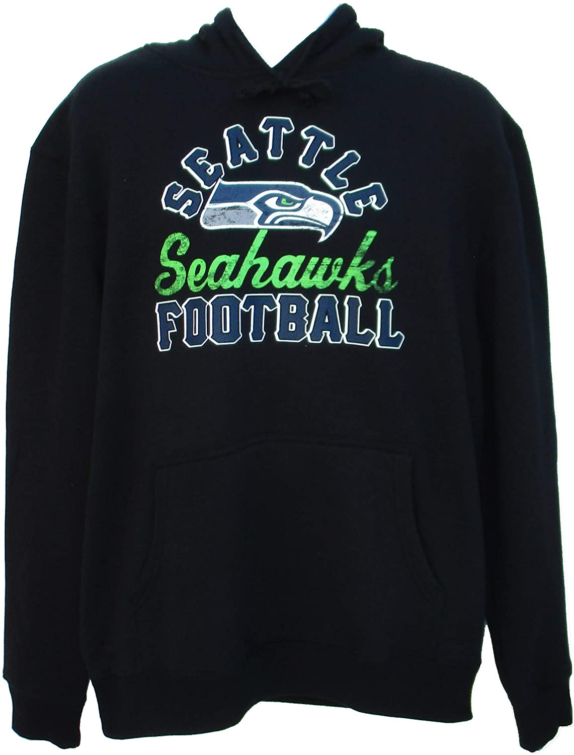 Outerstuff Seattle Seahawks Hooded Sweatshirt Mens Size X-Large XL - Black