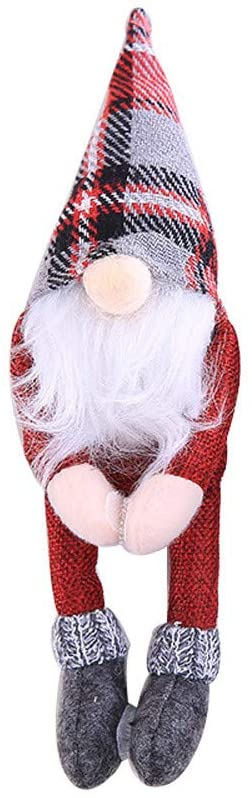 Hattfart Ugly Sweater Christmas Wine Bottle Cover Wine Santa Snowman Clothes for Christmas Decorations (Red)