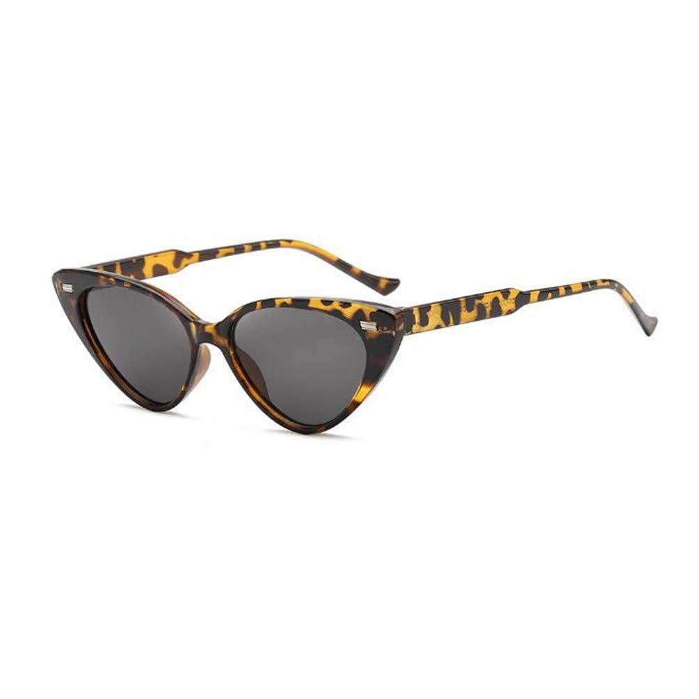 Rice nail triangle peach love sunglasses female personality decorative sunglasses anti-UV sunglasses (Leopard Print)