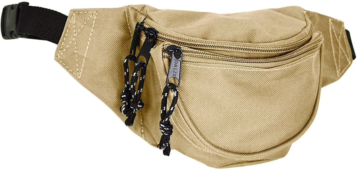 DALIX Small Fanny Pack Waist Pouch S XS Size 24 to 31 in Nude