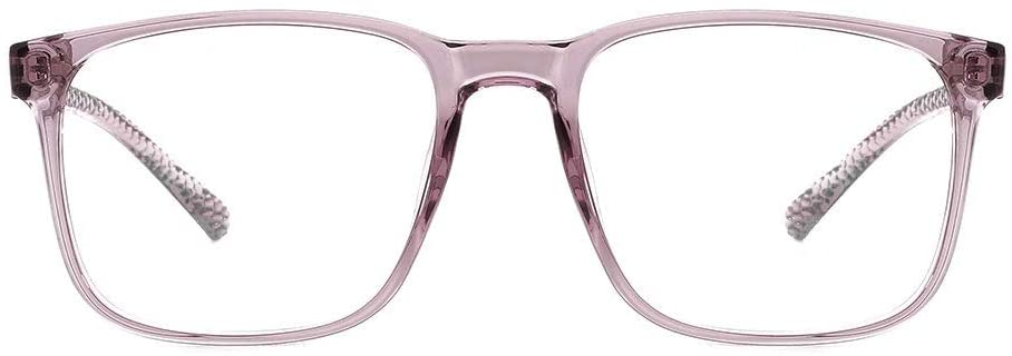 O-Q CLUB Blue Light Blocking Glasses Lightweight Eyeglasses Frame Filter Blue Ray Computer Game Glasses Women Men(Transparent Purple)