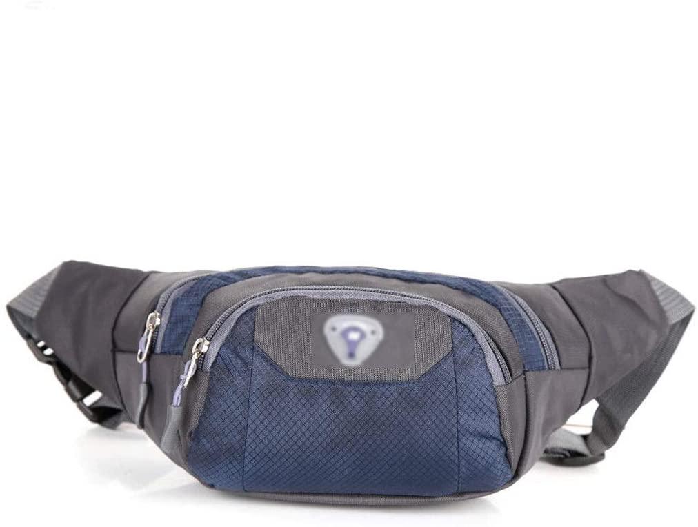 Chest Bag Multi-Function Pocket Messenger Bag Sports Fanny Pack Diagonal Bag Unisex Waist Pack Large-Capacity Pockets