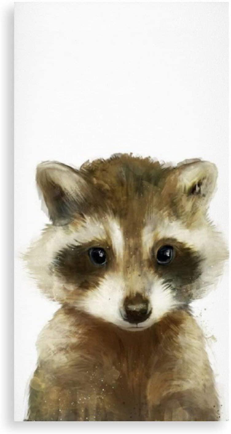 Little Raccoon Wall Art Painting Art Decoration Living Room Bathroom Bedroom Home Decoration(7.9x15.7'')(15.7''x15.7'')