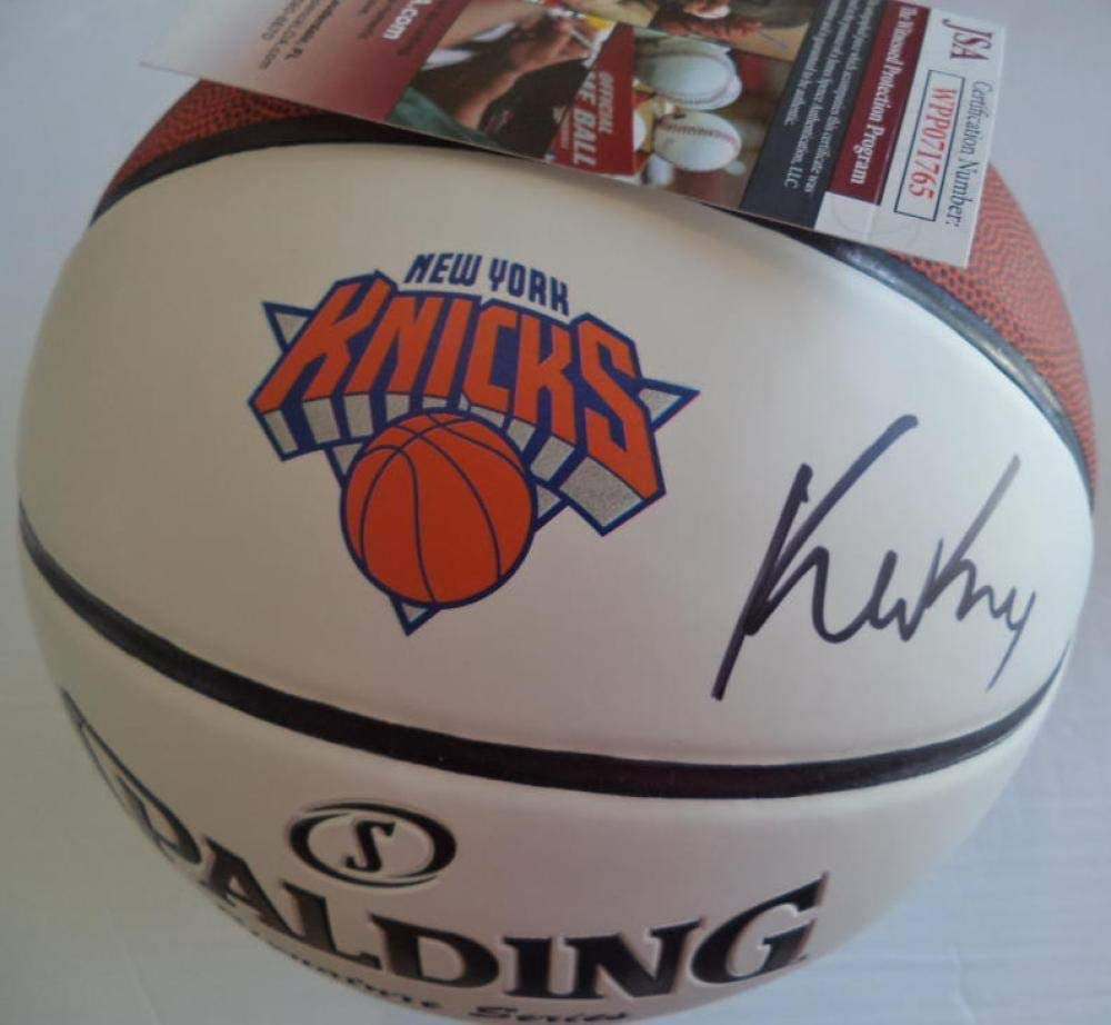 Kevin Knox New York Knicks Signed Auto Logo Basketball Rookie Jsa Wpp071765 - Autographed Basketballs