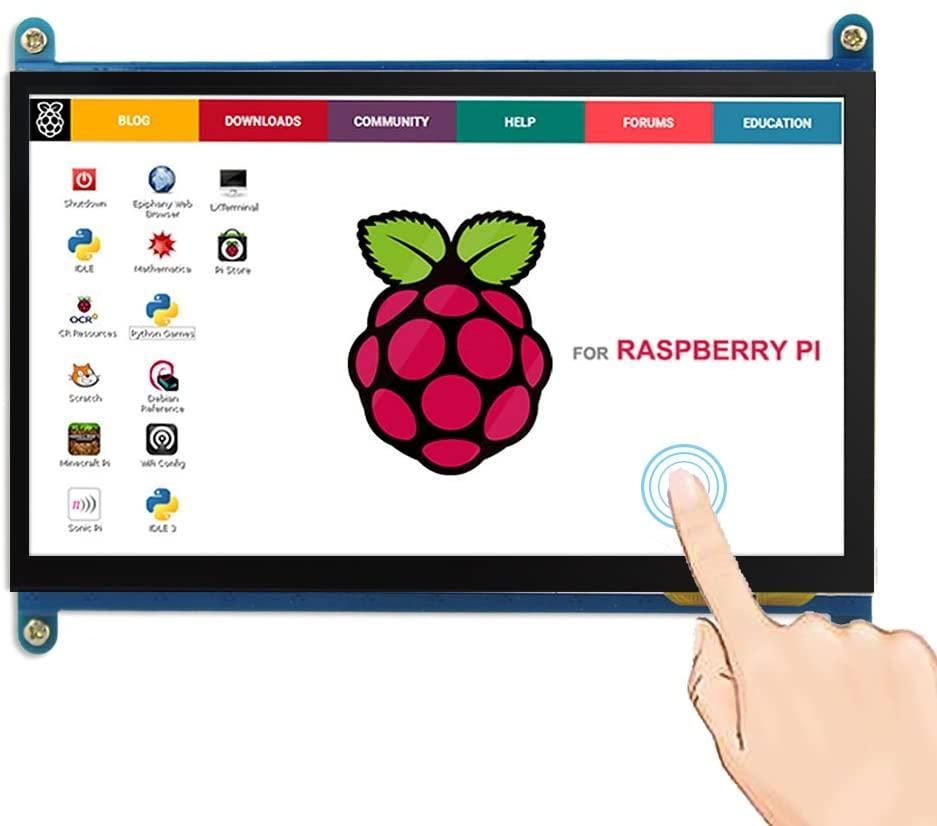 ELECROW 7 Inch Capacitive Touchscreen HDMI Monitor 1024x600 TFT LCD Display HD Screen for Raspberry Pi 4B, 3B, Banana Pi, Windows 10 8 7