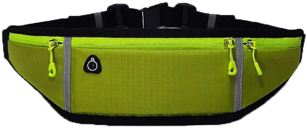 ZZEWINTRAVELER Waist Bag Adjustable Running Pouch, Reflective Strip Runners Belt Workout Elastic Slim Running Belt Phone Holder Fanny Pack for Women Men