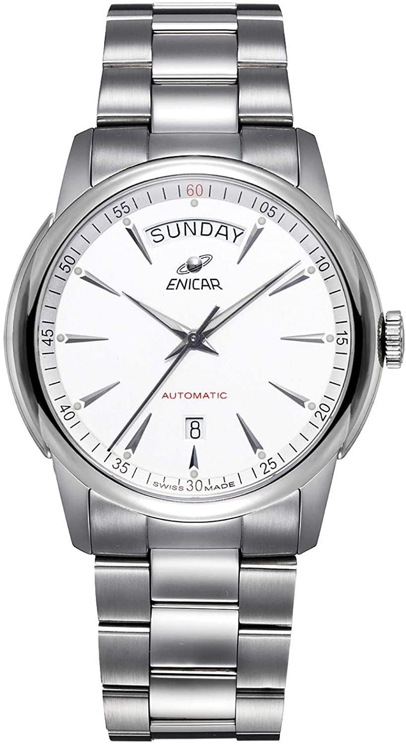 ENICAR Men's Red Label Mechanical Automatic Watch (Model No.: 357aA)