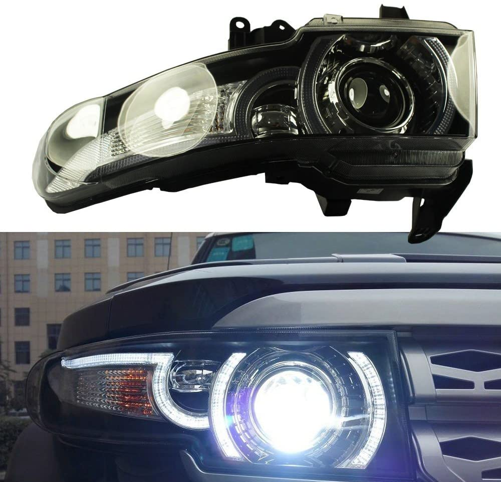 GOWE LED Halo Projctor Headlight For 2007-2015 Toyota FJ Cruiser(Including Grille)