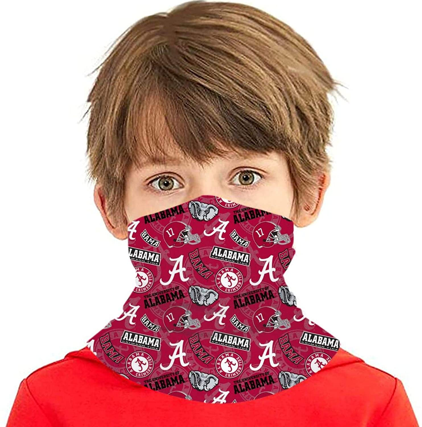 University Team Logo Windproof Face Mask Sports Neck Gaiter Multifunctional Scarf for Boys and Girls